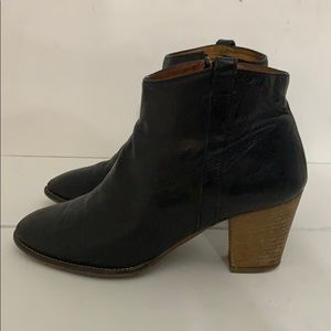 Authentic Madewell black leather ankle boots sz 8